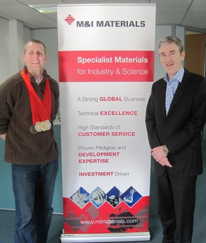 British Swimmer, Matthew Walker, MBE Sponsored by M&I Materials